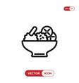 salad icon vector image vector image