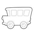 School bus icon isometric 3d style vector image vector image