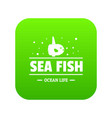 sea market icon green vector image vector image