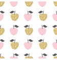 seamless pattern with apples scandinavian design vector image vector image