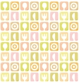 Seamless pattern with spoon fork plate and knife vector image vector image