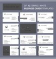 set of 12 bat creative busienss card template vector image vector image