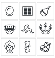 Set of Alternative Medicine Icons Vacuum vector image