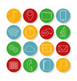 set of mobile app icons vector image