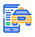 taxi tracking via phone online taxi icon vector image vector image