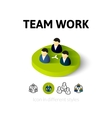 Team work icon in different style vector image