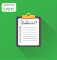 to do list notepad icon business concept task vector image