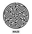triskelion symbol tattoo maze geometric circular vector image