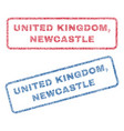 united kingdom newcastle textile stamps vector image vector image