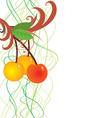 vector cherry berries vector image vector image