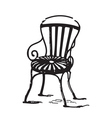 Vintage chair vector image vector image