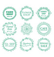 Vintage shop signages vector image