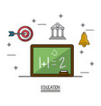 white background poster of education with vector image vector image