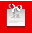 White sticker on a red background vector image vector image