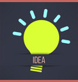 Light bulb inspirational background in modern vector image