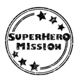 superhero mission vector image