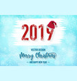2019 merry christmas red background with vector image vector image