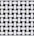 3d geometric background with weaving pattern gray vector image