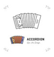 accordion icon thin line art symbols accordions vector image