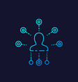 affiliate marketing line icon on dark