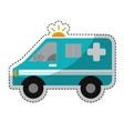 ambulance vehicle icon vector image vector image
