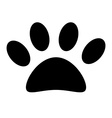 Animal paw print vector image