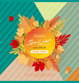 banner for sale of autumn with colorful seasonal vector image vector image
