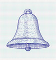 bell hand drawn sketch vector image vector image