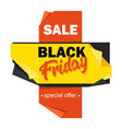 black friday advertising price tag origami-style vector image vector image