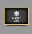blackboard winter sale vector image