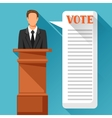 Candidate of party involved in debate Political vector image
