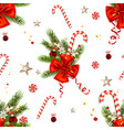 candy cane and ribbon isolated vector image