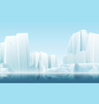 cartoon soft color nature winter arctic icy fog vector image