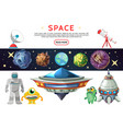 cartoon space composition vector image