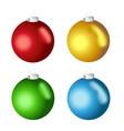 christmas balls realistic set vector image