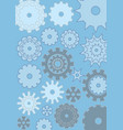 Cogwheels on blue background techno design gears