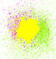 Colorful acrylic paint splatter blob on white vector image vector image
