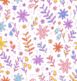 Colorful flowers pattern vector image vector image
