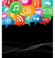 colorful social network concept vector image