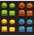 Colors wooden Push Buttons For A Game vector image vector image