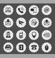 contact us icon set vector image