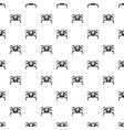 crab sea animal pattern vector image vector image
