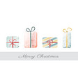 creative colorful christmas gift box set with vector image