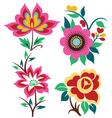 creative flower set vector image vector image
