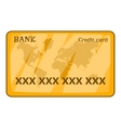 Credit card icon cartoon style vector image