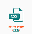 CSS computer symbol vector image vector image