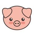 cute pig animal tender isolated icon vector image