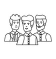 elegant businessmen avatars characters vector image vector image