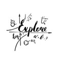 explore hand drawn positive quote vector image vector image