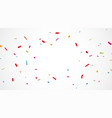 falling colorful confetti background vector image vector image